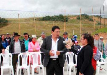 GAD Municipal entregó cancha de uso múltiple a la comunidad de Chapte