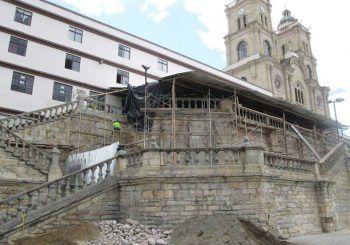 Reconstruyen atrio del santuario de la Virgen de la Nube