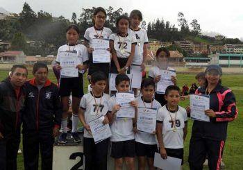 Se realizó festival de Mini atletismo