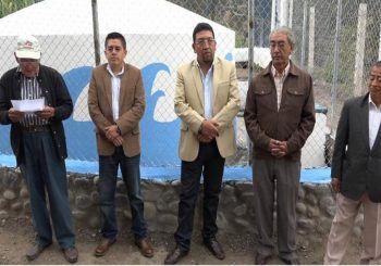 Gobierno local inauguró tanque de agua en La Caldera