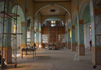 Avanzan trabajos de restauración en capilla