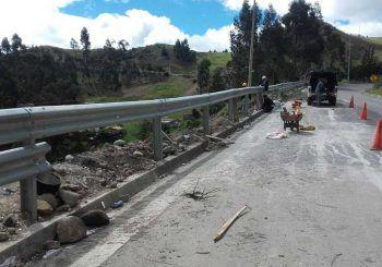 Concluyen trabajos de recuperación de la vía Ingapirca - Honorato Vásquez